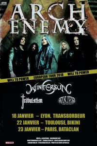 Arch Enemy Tourposter 2018 - France